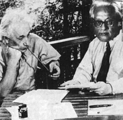 Het Bose-Einstein Condensaat is vernoemd naar Satyendranath Bose (rechts) en Albert Einstein, die het bestaan ervan al in de jaren twintig van de vorige eeuw voorspelden.